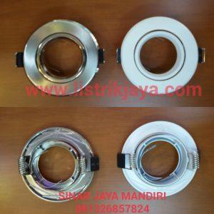 Downlight Lampu Tusuk MR16 Putih Dan Silver