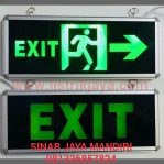 Lampu Led Emergency Exit Kaca