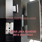 Kap Lampu Dinding Segi Kotak Minimalis