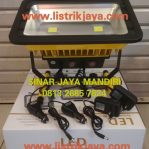 Lampu Sorot Led 100 Watt Emergency Rechargable