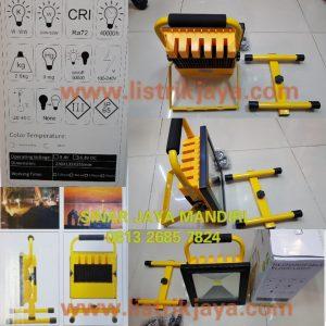 Lampu Sorot 50W led Emergency Portable Rechargable