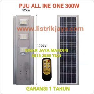 Lampu Jalan PJU Led 300W Solarcell All In One