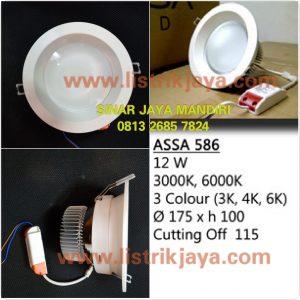 Downlight Led ASSA 586 12W 3 Warna