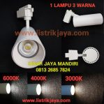 Lampu Spotlight Track 3 Warna 30W Change Switch